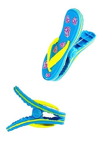 C&H Solutions Flip Flops estilo toalla de playa clips tamaño Jumbo para silla de playa, crucero playa patio, piscina accesorios para sillas, clip para el hogar, cochecito de bebé