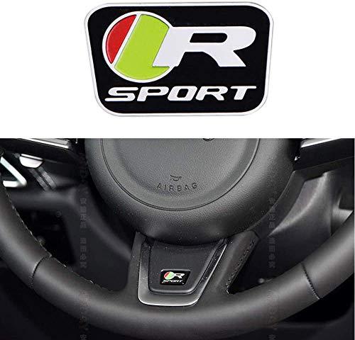 Lenkrad Innen Aufkleber Aufkleber Selbstklebende PVC-Abzeichen Für Jaguar XFL F-PACE (R/S Logo),R