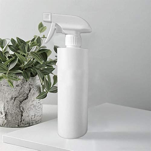 ZWQASP El alcohol Desinfección Spray 500 ml de alcohol desinfectante de plástico blanco de la botella de peluquería Botella del aerosol Botella salón de belleza del pelo Herramientas del jardín del ag