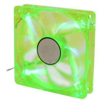 Logisys CF120GN 120mm GREEN 4 LED PC Computer Case Fan w/ 3+4 pin Power - NEW