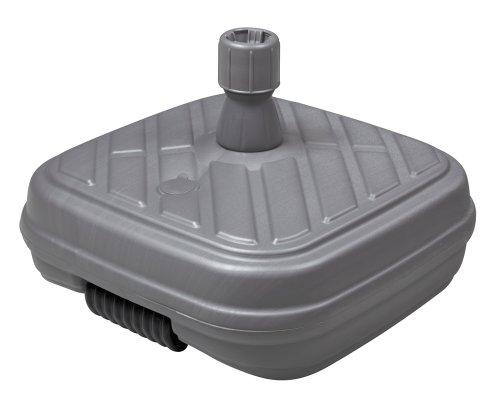 Doppler HDPE Füll-Sockel anthrazit mit Rolle - 48Liter - für Rohr 33-48mm