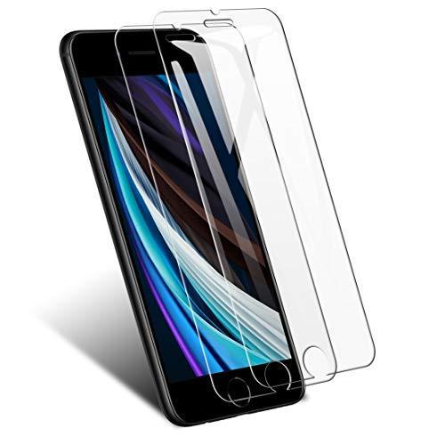 【2枚セット】iPhone SE 第2世代 / iPhone SE2 ガラスフィルム TopACE for iPhone SE2/8/7/6s/6 保護フィルム 貼り付けが簡単 強化ガラス 気泡防止 防指紋 高透明度 液晶保護フィルム 発売後開発版