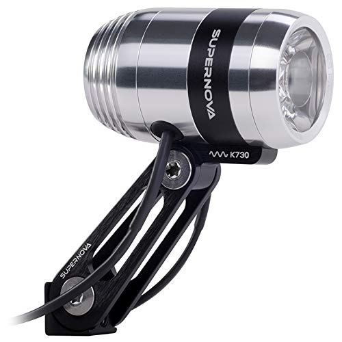 Super Nova E3 Pro 2 koplamp, volwassenen, uniseks, zilver, Dynamo