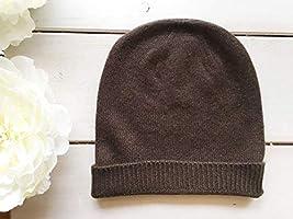 Bonnet Chapeau Homme Hiver Chaud Tricoté 100% Cachemire Classique