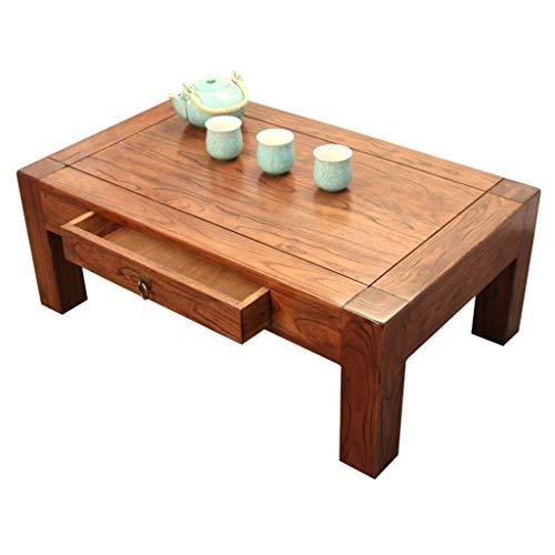 Beistelltische Home Couchtisch Erker Fenstertisch Moderner Teetischbalkon Kleiner Tisch Chinesischer Ulmen-Couchtisch Aus Massivem Holz Kleiner Tisch Mit Kleinem Teetischbalkon Im Japanischen Stil