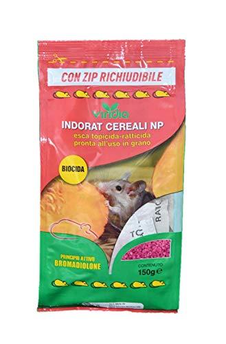 viridia indorat Cereali Veleno per Topi in grani150 gr con Zip richiudibile