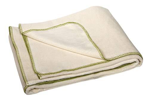 yogabox Manta de algodón Bio/Gots Made in Germany Naturales 150 x 200 cm