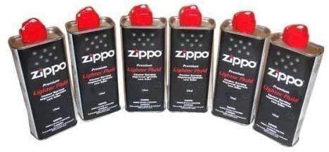 Megaprom 6X 125ml Feuerzeugbenzin für ZIPPO-Feuerzeuge, Sturmfeuerzeuge, Leichtbenzin, Reinigungsbenzin, Nachfüllflaschen mit Benzin