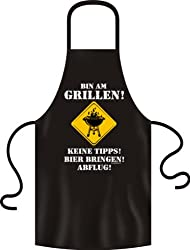 "BBQ Apron ""I'm Barbecuing! No Tips! Bring Beer! Departure"""