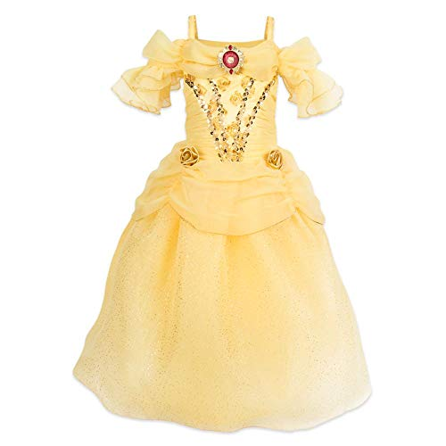 Disney Belle Costume for Kids  Beauty and The Beast- Size 4 Yellow