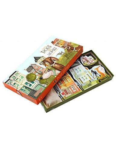 Marbushka Brettspiel - Gesellschaftsspiel für Kinder und Familien 2-4 spielers ab 5 Jahren [Hunde und Hausen] - ökologisch, nachaltig und fair-Trade aus natürlichen Materialien in Ungarn