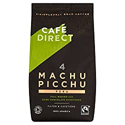Organic Fairtrade ground coffee Smooth full-bodied coffee with dark chocolate overtones Strength 4 Rich Roast Great Taste Award - Gold 2010 Ground for filter and cafetiere