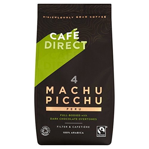 CAF Direct Fairtrade Machu Picchu Peru Organic Freshly Ground Coffee 227 g (Pack of 2)