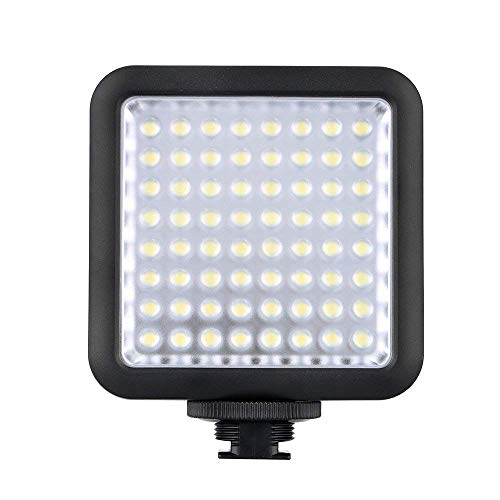 Godox LED 64 Continuous On Camera LED Panel light ,Portable Dimmable Video Lighting Compatible for DSLR Camera Conon/Nikon/Sony/Panasonic/Olypus/Fuji,Camcorder