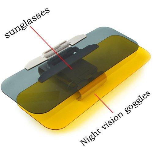 2 in 1Auto Sonnenblende, Sonnenschutz Auto, Transparente Autosonnenblende Blendfrei Autofenster Sonnenschutzrollos Heckscheibe für Tag und Nacht