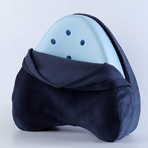 Beinruhekissen Kniekissen, Ergonomisches Seitenschläferkissen Memory Foam Kissen für Seitenschläfer stützt Beine, Knie und Rücken