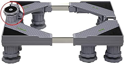 Ghongrm Base Ajustable Multifuncional con 4/8/12 Fuertes Piernas Lavadora Secador Soporte Pedestal Telescópico Longitud 41-66cm Ancho 39-64cm ACONDICIONADOR DE Aire ACONDICIBLE 10-13cm - 300kg