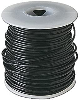 Frey Scientific 581148 Solid Conductor PVC Coated Hookup Wire, 22 Gauge, 100' Length, Black