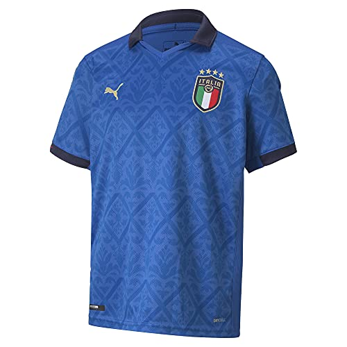 PUMA FIGC Home Shirt Replica Jr, Maglia Calcio Bambino, Team Power Blue/Peacoat, 176