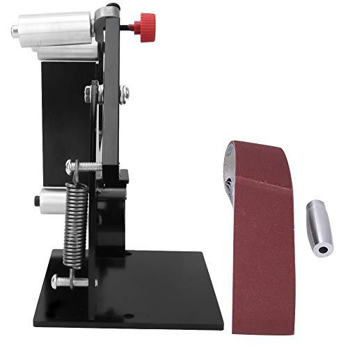 Bandschleifer Schleifmaschine, 50mm Breite Bandschleifer Vorsatzpolierer Schleifpoliermaschine mit Adapter, Schleifpoliermaschine(M14)