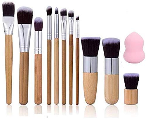 Ensemble de pinceaux de maquillage pour les yeux, 11 pinceaux de maquillage professionnels [avec une éponge de maquillage]