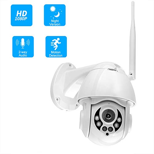 OWSOO 1080P WiFi PTZ IP-Kamera Gesichtserkennung Auto Tracking 4X Zoom Zwei-Wege-Audio wasserdichte Outdoor-Überwachungskamera