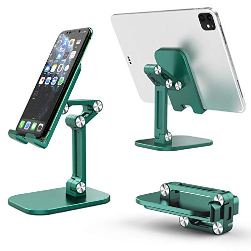 FSSQYLLX Tablet Stand Foldable Desktop Tablet Mobible Phone Holder Cradle Stand Adjustable