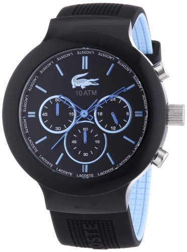Lacoste Borneo - Reloj de Cuarzo para Hombre, con Correa de Silicona, Color Negro