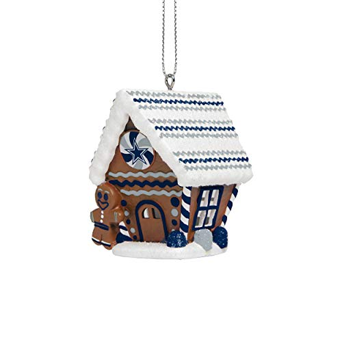 FOCO Dallas Cowboys NFL Gingerbread House Ornament
