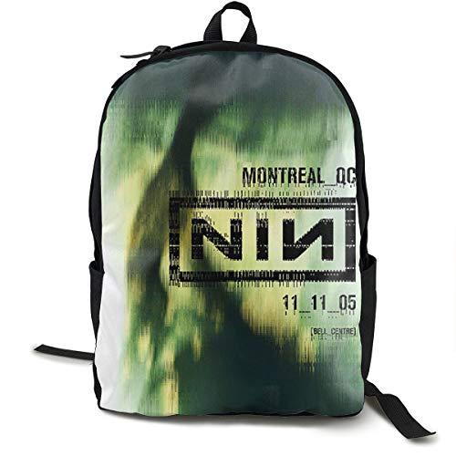 N / A Nine Inch Nails Concert Posters Printed Paket Klassischer Rucksack Schultasche Schwarze Tasche Arbeitsreise Zur Polyester Unisex Schule