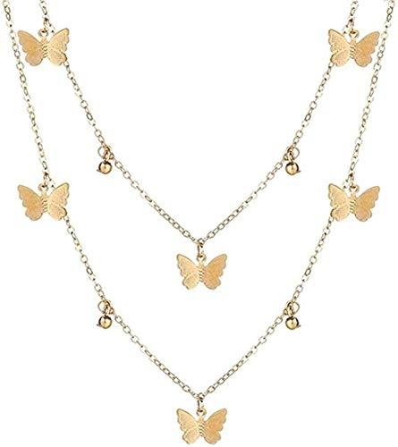 banbeitaotao Collar Vintage con Retrato de Oro, Collares con Colgante de Perlas para Mujer, Collar Largo de Perlas de Bohemia, Regalo de joyería