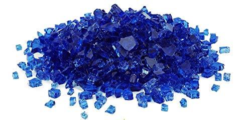 Golden Flame 10-Pound (Fire Glass) 1/4-Inch Cobalt Blue