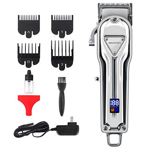 Hair Clipper for Men Professional Hair Trimmer for Hair Cutting Beard Trimmer Barbers Grooming Rechargeable, LED Display