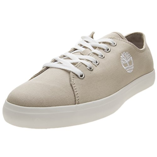Timberland Men's Oxford Shoes Low-top Sneakers, Brown Light Taupe Canvas, 8 UK