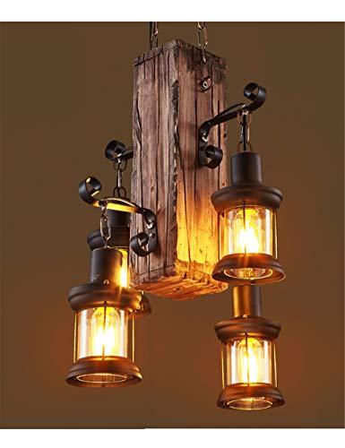 Lampadari American Style industriale Vento Retro Cafe Restaurant Bar Taiwan creativo Negozio di abbigliamento vecchia barca di legno decorativi