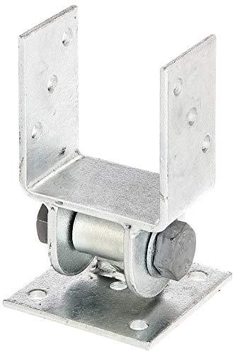 GAH-Alberts 208714 Pfostenträger mit beweglichem Oberteil | zum Aufschrauben | feuerverzinkt | lichte Breite 91 mm