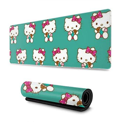 Cartoon Hello Kitty Alfombrilla para ratón Alfombrilla para ratón con borde cosido Base de goma antideslizante Deportes electrónicos Mousepad Oversize Portátiles y Juegos de PC