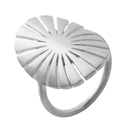 Pernille Corydon Ring Damen Sonne Kreis - Flare Serie Damenring 925 Silber Größe 52 - R597s