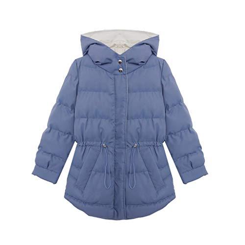 XUEPING Damenjacken, Damen Gesteppte Wintermäntel Einteilige Kappe Elastische Taille S XXL Hellblau (größe : 2XLUK12EU42)