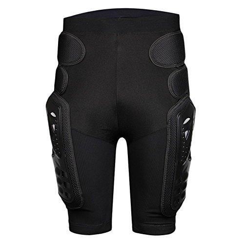 BARHAR Protective Armor Pants Hockey Knight Gear for Motorcycle Motocross Racing Ski Protect Pads Sports Hips Legs (Medium) Black