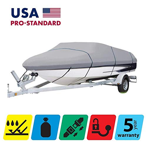 Sale!! TTSC Boat Cover for Lowe Fish&SKI FS 1710 2017 2018 2019 2020, Grey Color