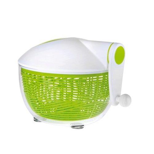 Ibili Mini-Salatschleuder Essential 20 cm, Kunststoff, weiß/grün, 20 x 20 x 5 cm