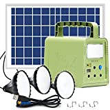 Portable Solar Generator, WAWUI Portable Power Station with Solar Panel & Flashlights, Camping Lights with Battery, USB DC Outlets, Solar Panels 84Wh for Outdoor Travel(84Wh)