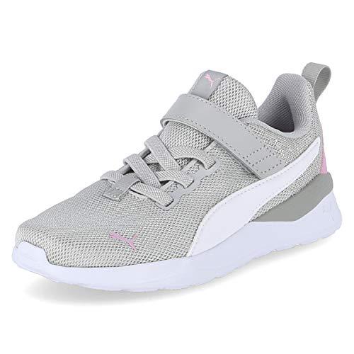 Puma Mädchen Anzarun Lite Metallic Ac Ps Sneaker, Grau Violett Weiß Hellrosa, 28 EU