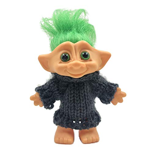 kowaku ラブリー4箱チヴィンテージタイニードールズトロールミニドールアイオンフィギュア - 緑髪