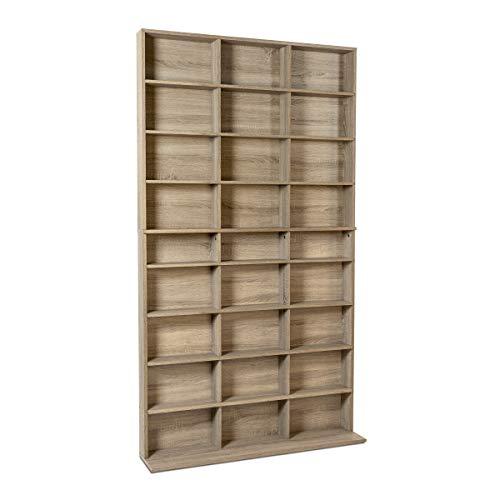 Atlantic Elite Media Storage Cabinet New/Improved Large 837CD/528DVD/624BR Weathered Oak PN38408141