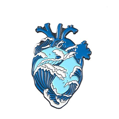 Aisoway Organo Cuore Pin Smalto Gioielli Abbigliamento Bag Spille Pin Regalo Brave Heart Medical Badge
