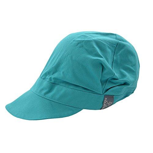 PICKAPOOH Schirmmütze Rico für Kinder und Erwachsene mit UV-Schutz Bio-Baumwolle, Türkis Gr. 60