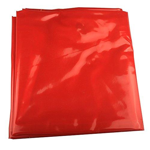WELDFLAME 6'x 6' Orange Vinyl Welding Curtain w/Grommets 12
