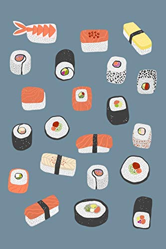 Weekly Planner: A Week to View Diary and Organiser - Monday Start with Japanese Sushi Maki Nagiri Cover Art